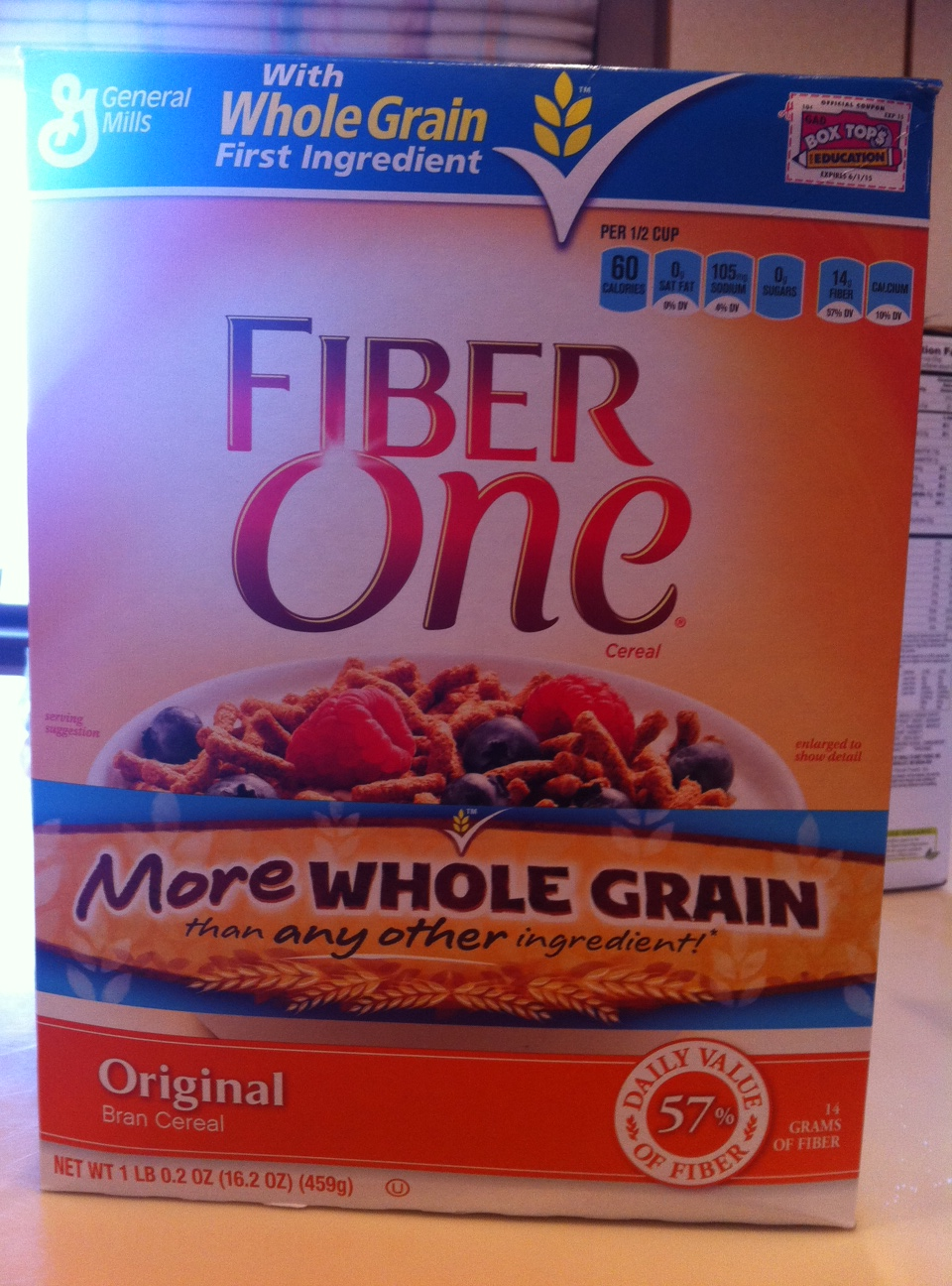Fiber One Cereal Box