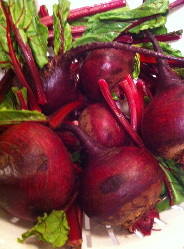 Beets in Strainer