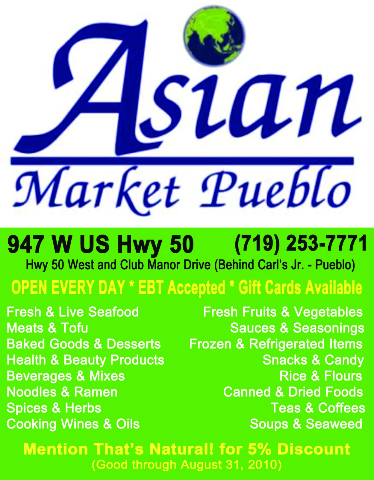 Asian Market Advertisement