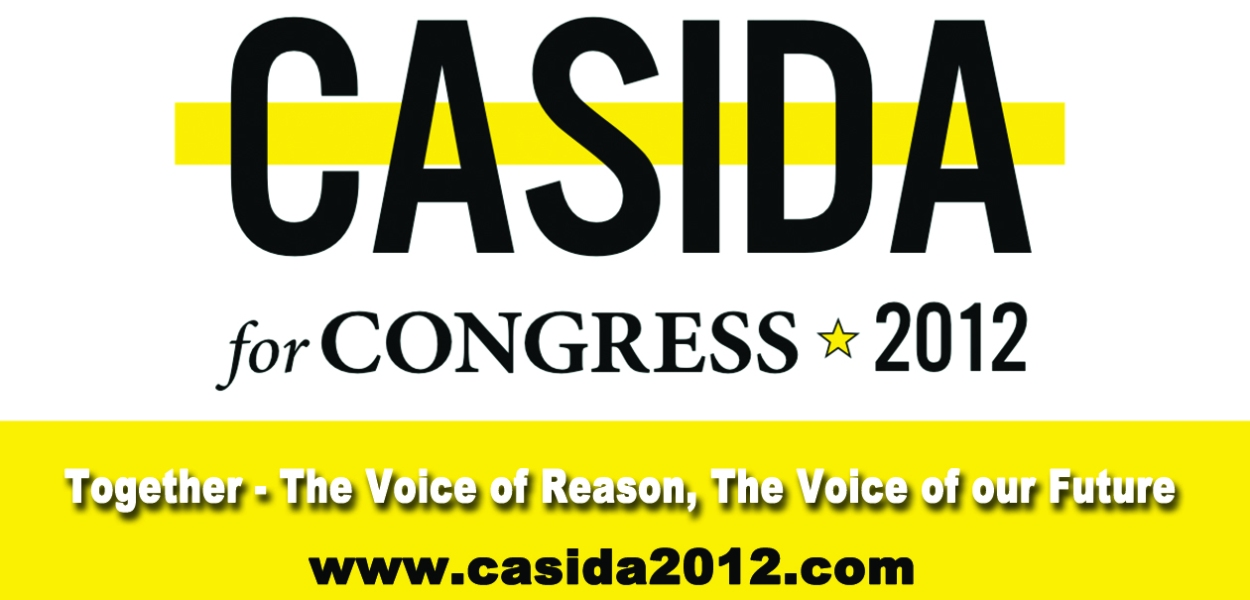 Casida for Congress - Business Card Design from That's Natural! Marketing