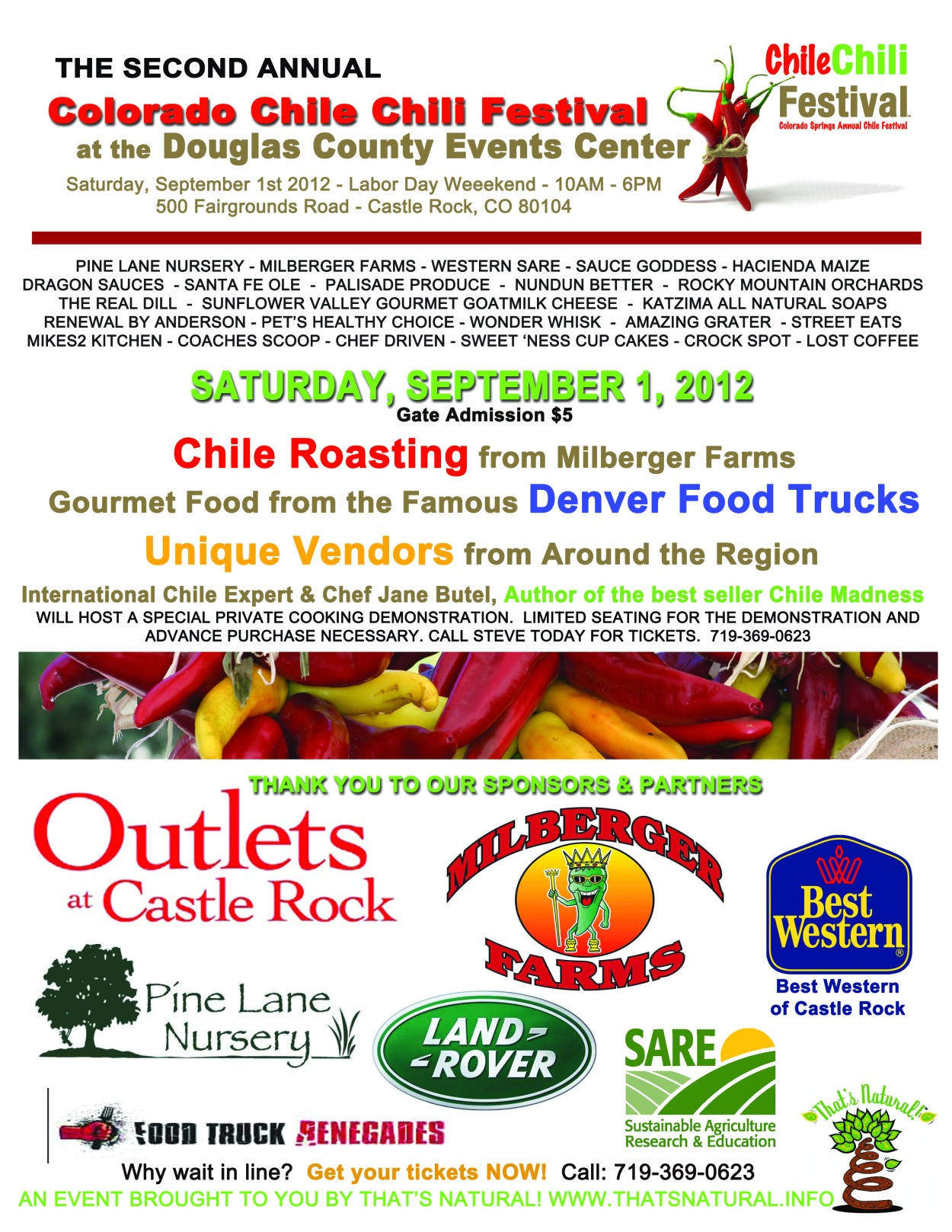Chile Chili Fest 2012 Poster - Design from That's Natural! Marketing