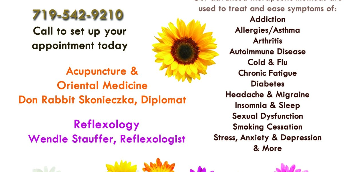 Golden Flower Health Clinic - Graphics from That's Natural! Marketing