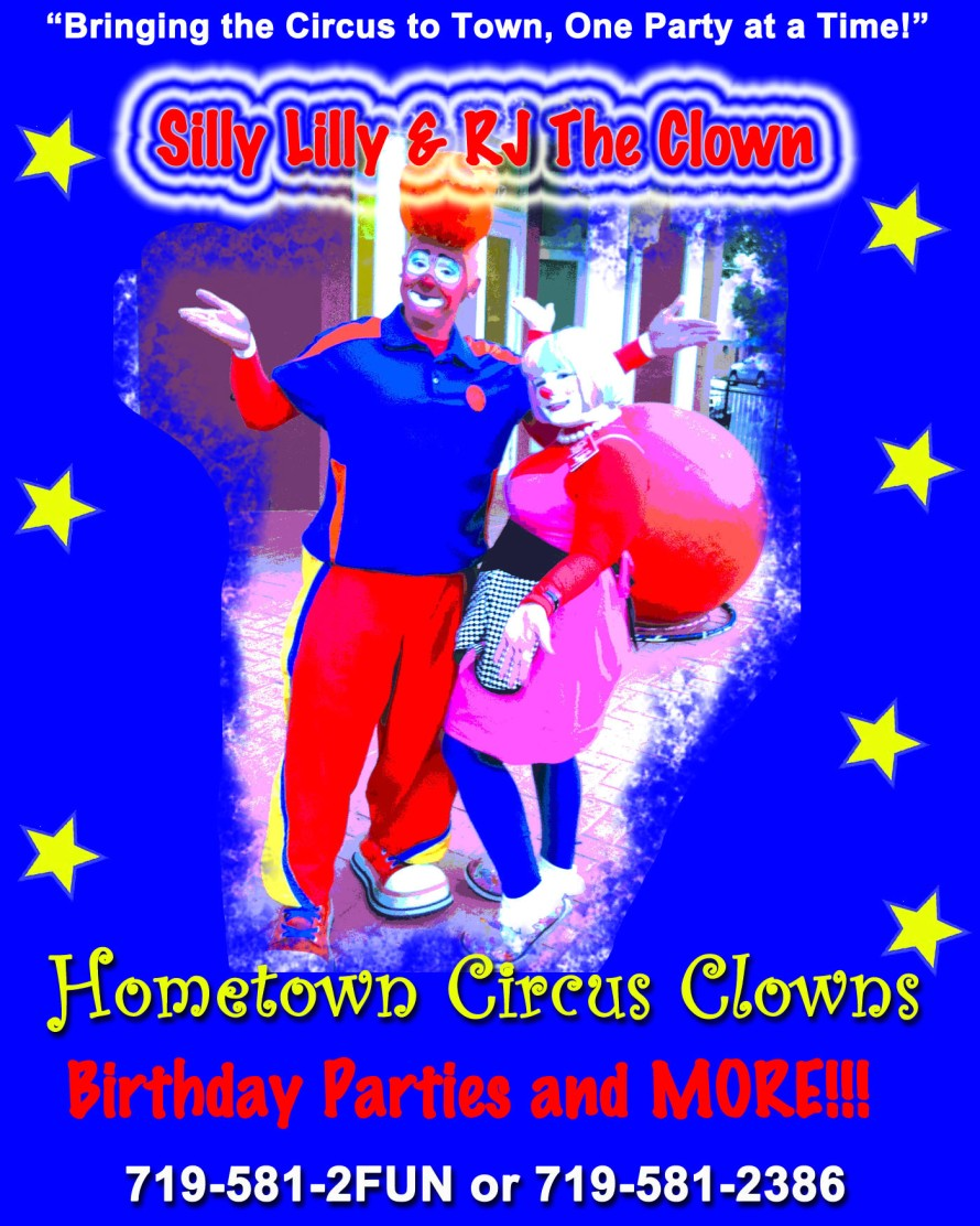 Hometown Circus Clowns - Graphics from That's Natural! Marketing