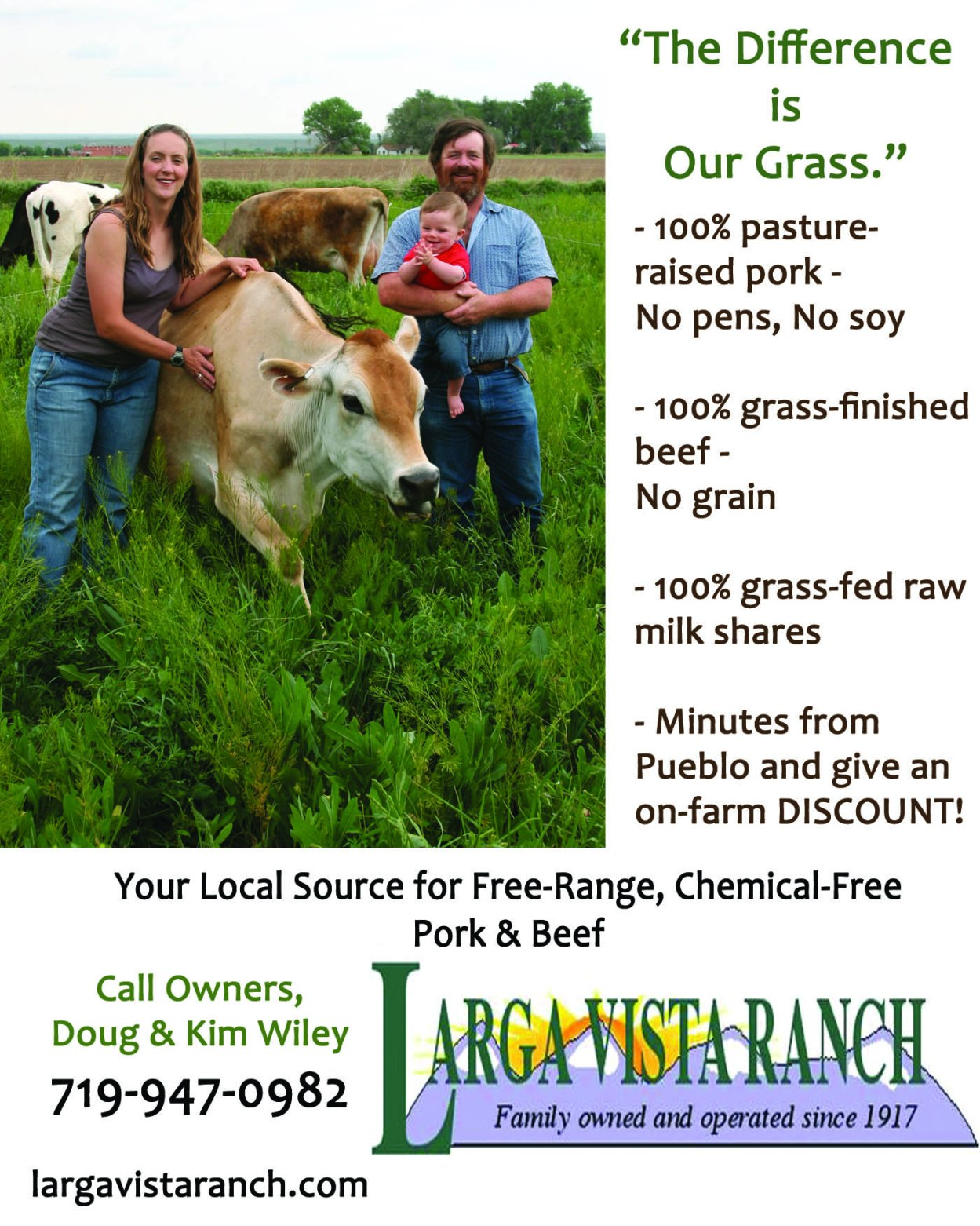 Larga Vista Ranch Advertisement