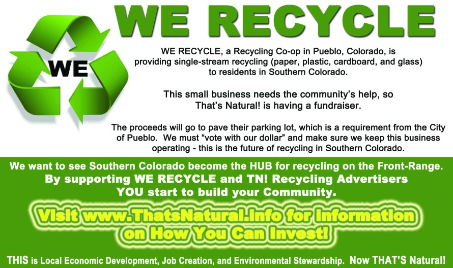 WE RECYCLE Fundraiser