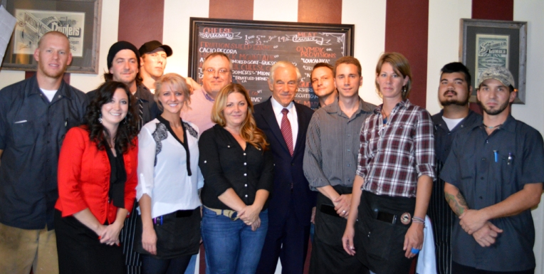 Dr. Ron Paul and Bin 707 Staff