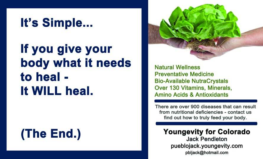 Youngevity Ad for Jack Pendleton_Spring 2015