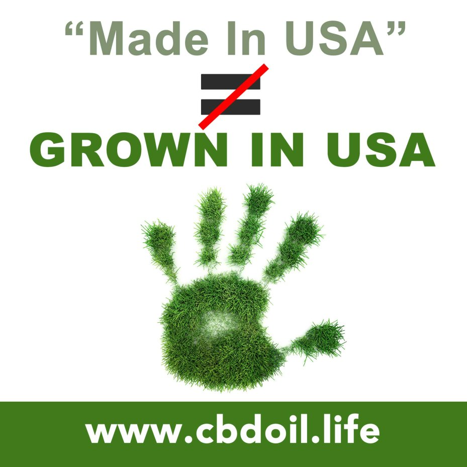 Made in USA - Not Equal To - Grown in USA