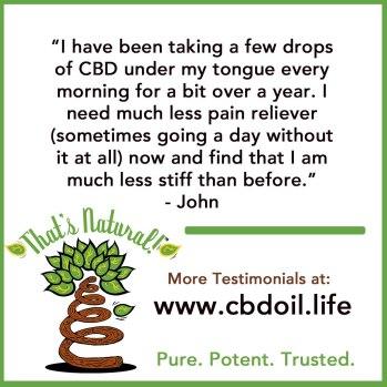 Testimonial for CBD Hemp Oil 13 (John - NM)