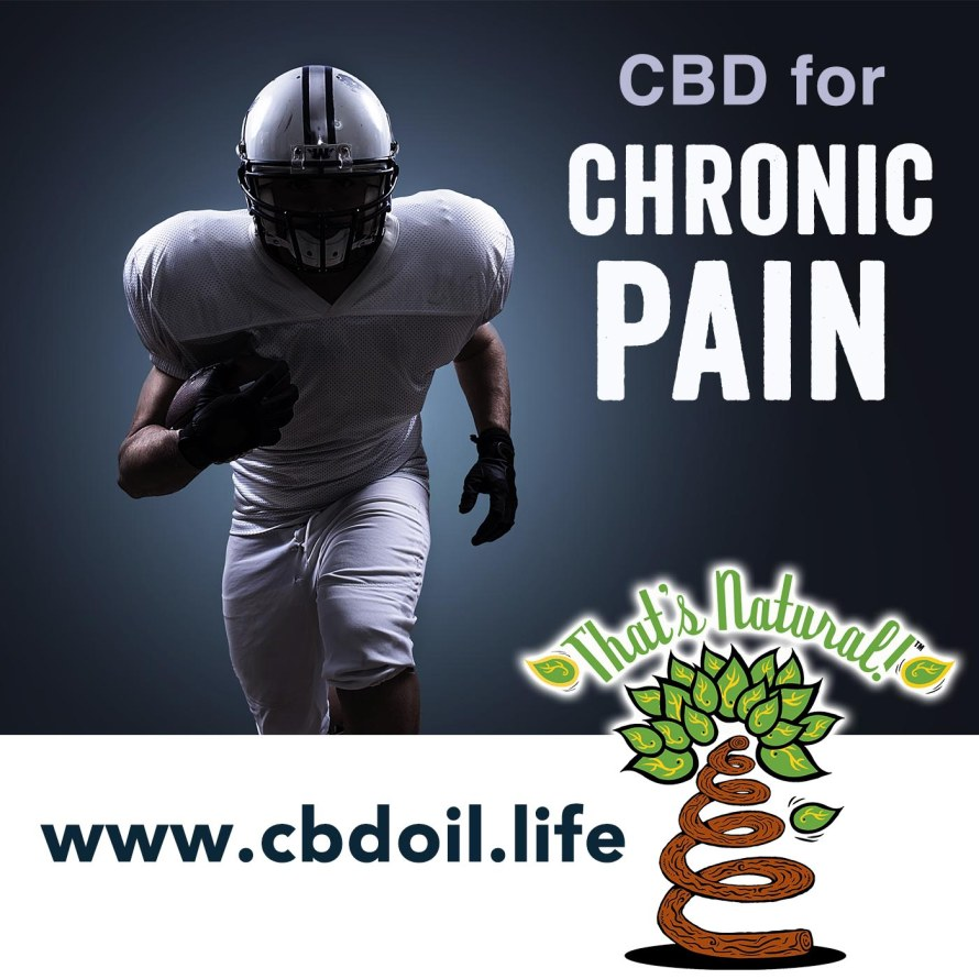 CBD for Chronic Pain from That's Natural, Football Player Running V1