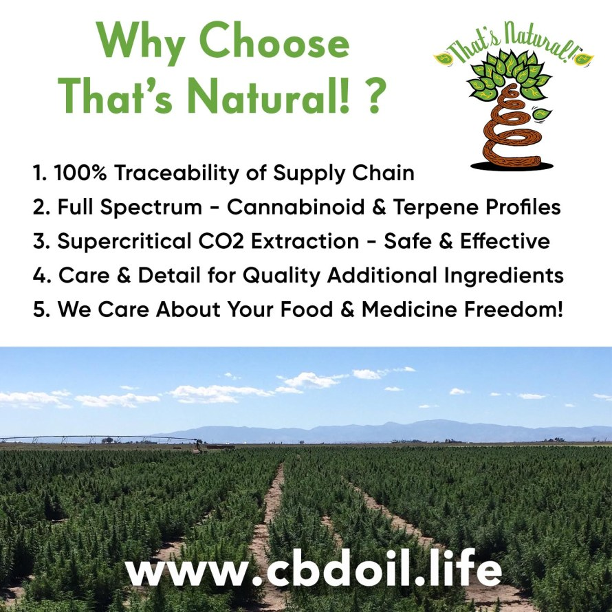 Why Choose That's Natural, V1 with San Luis Valley Hemp Farm
