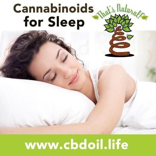 Cannabinoids for Sleep - Full Spectrum CBD-Rich Hemp Oil from That's Natural at www.cbdoil.life